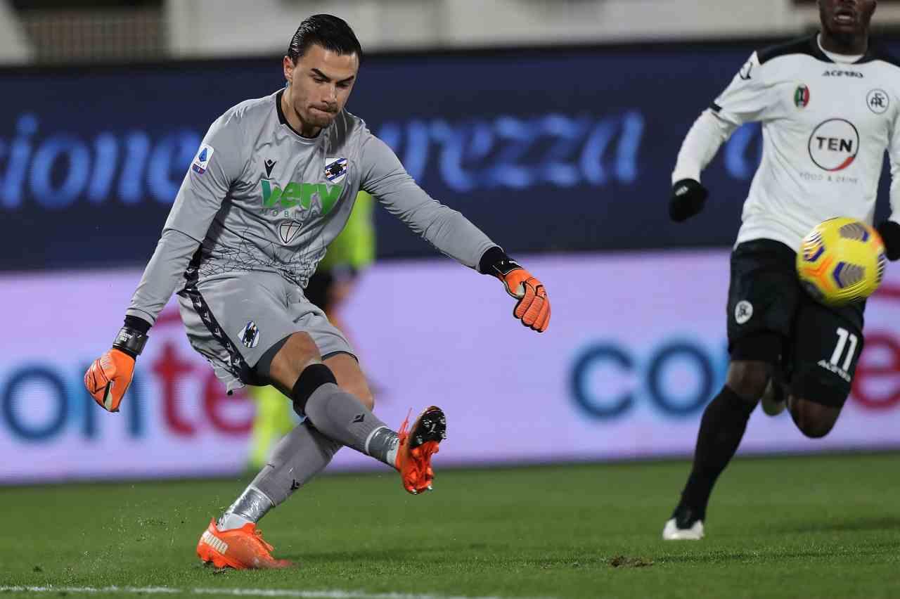 Sampdoria Spezia diretta streaming
