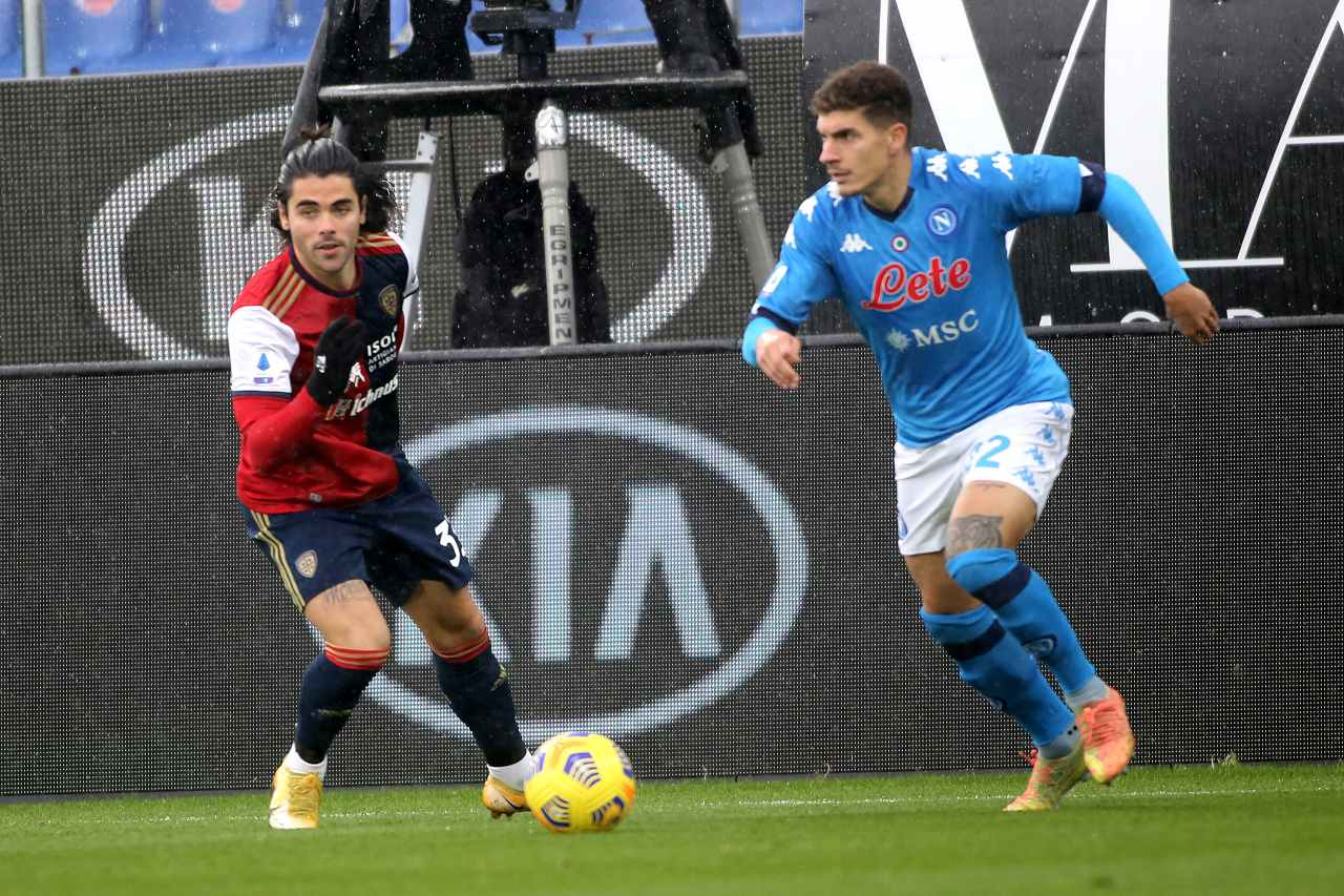 Napoli-Cagliari. Getty Images