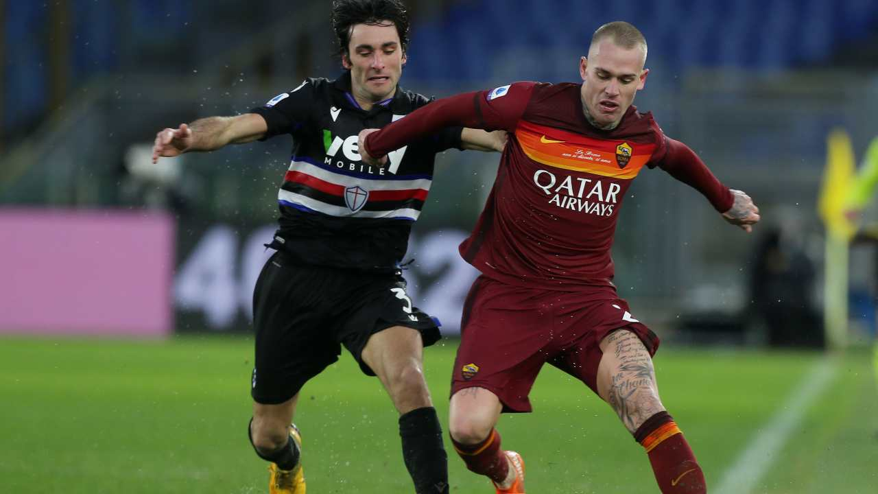 Sampdoria Roma diretta streaming
