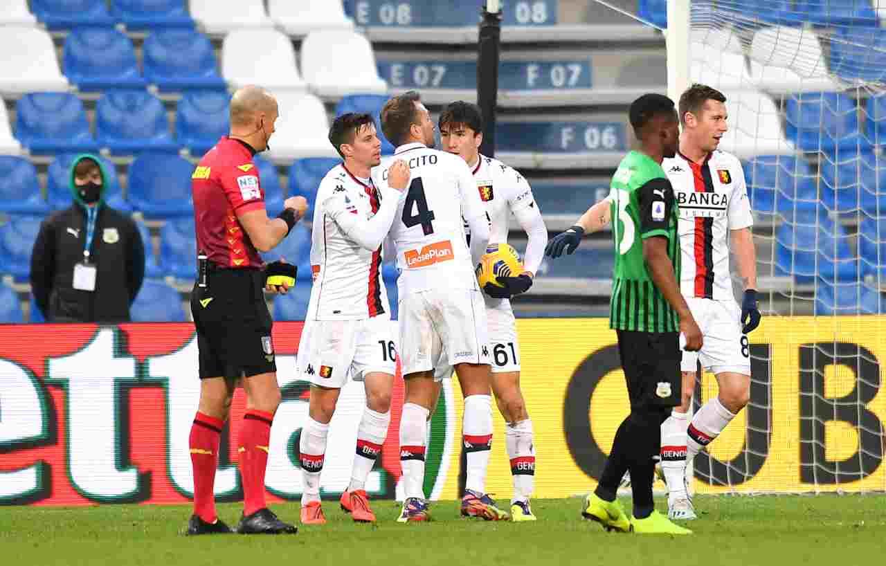 Genoa Sassuolo diretta streaming