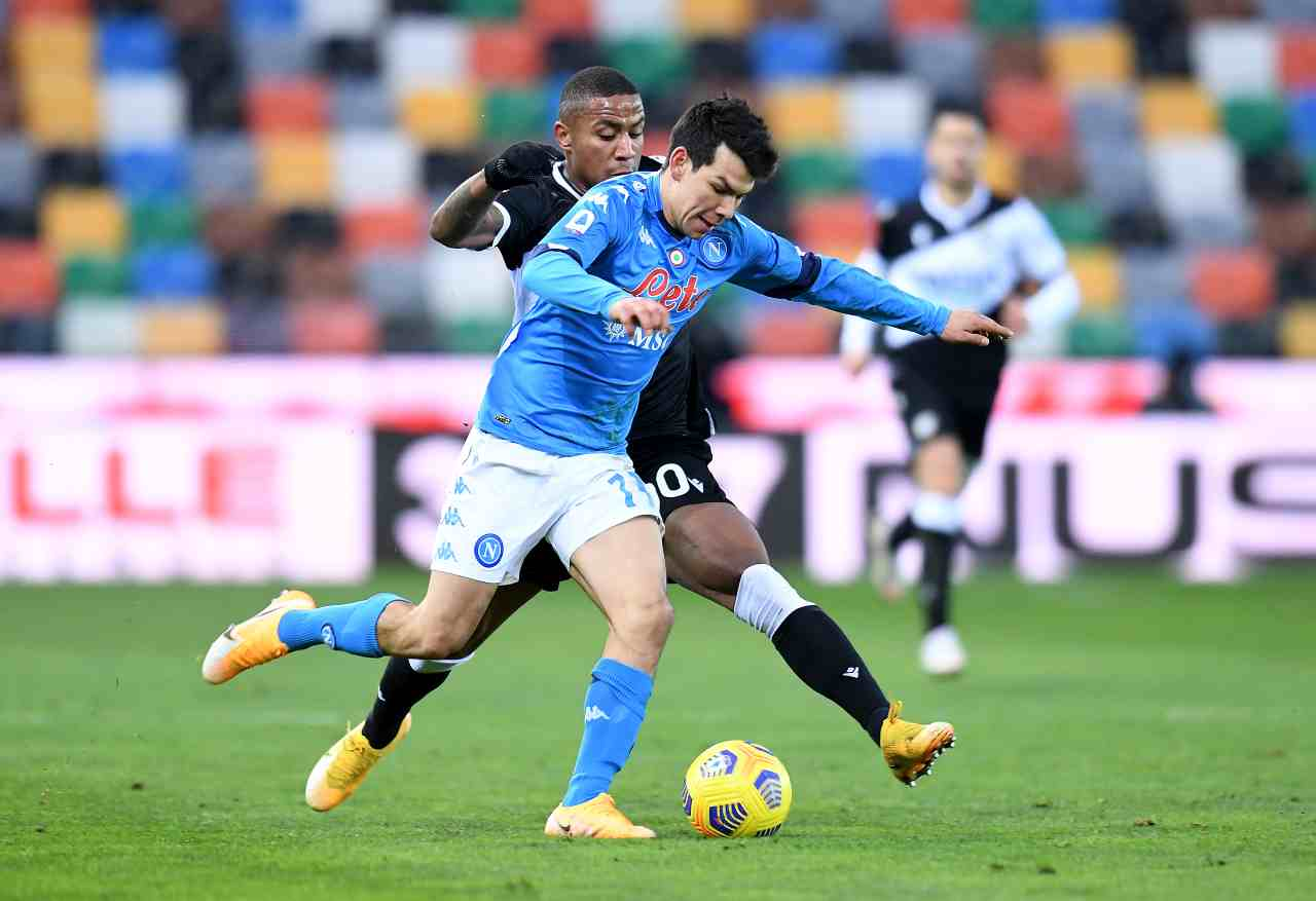 Napoli-Udinese. Getty Images