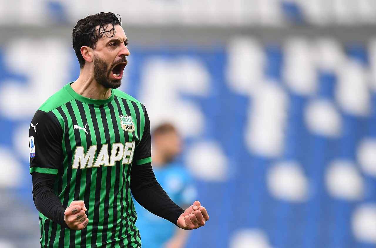 Francesco Caputo, attaccante del Sassuolo. Getty Images