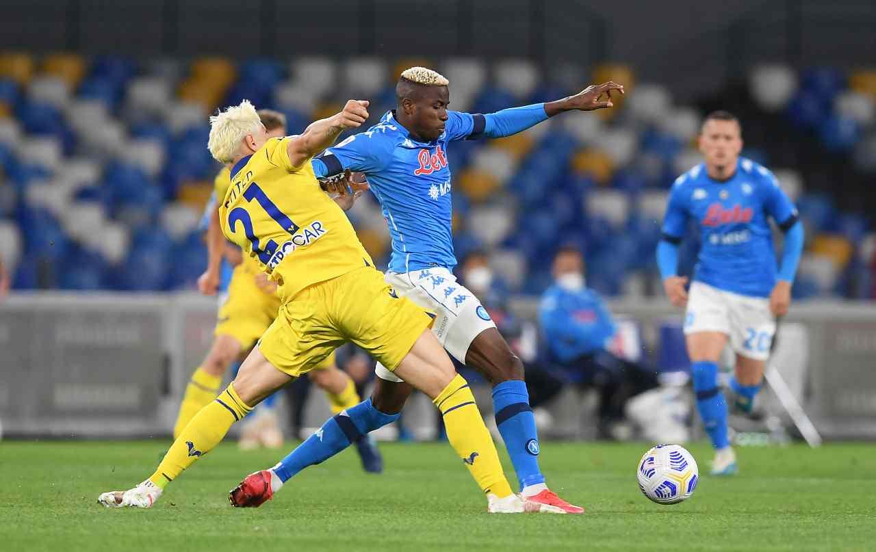 Napoli-Verona. Getty Images