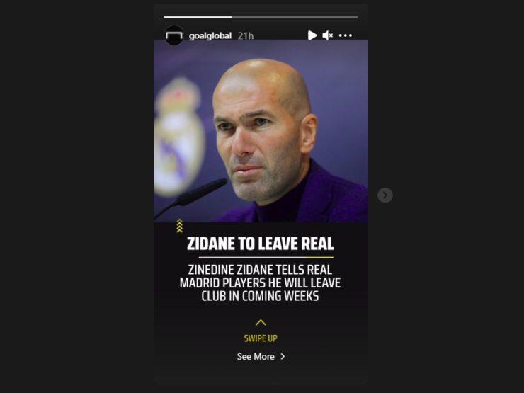 Ecco la rivelazione di goal.com sul futuro dell'allenatore del Real Madrid Zinedine Zidane