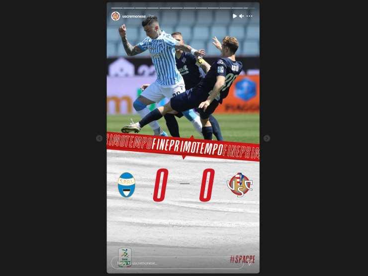 SPAL-Cremonese, il punteggio parziale a fine del primo tempo. Serie B, 10 maggio 2021