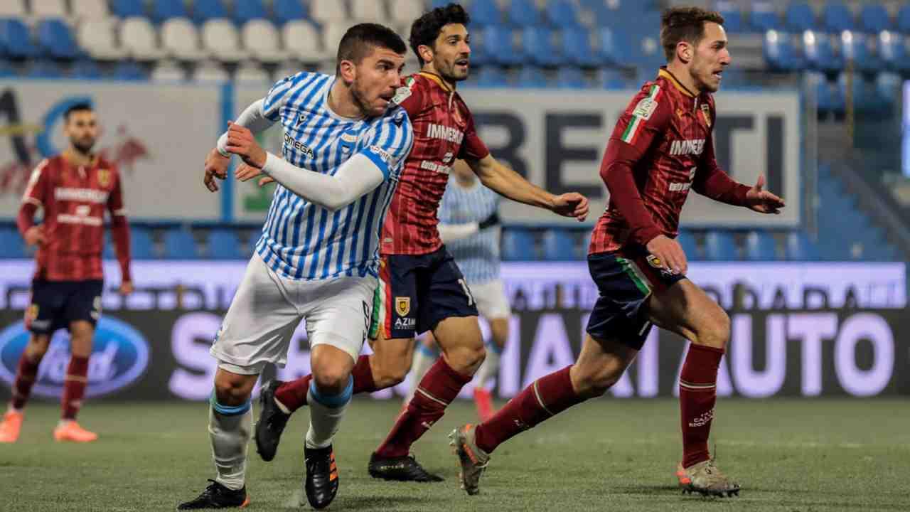 Serie B, partita SPAL-Reggiana del 18 gennaio 2021 nello Stadio Paolo Mazza (foto © SPAL Ferrara).