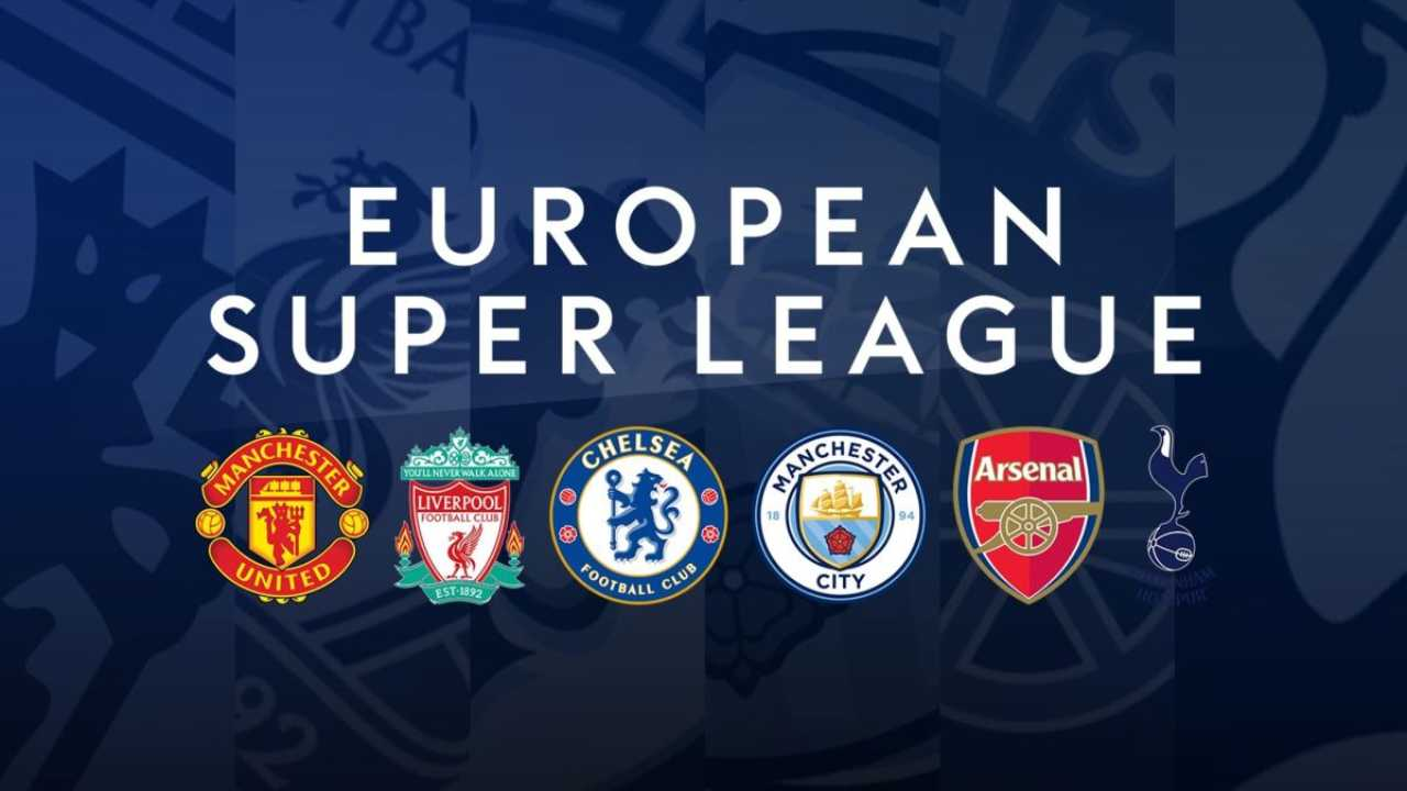 Le sei squadre inglesi aderenti alla Super Lega: Manchester United, Liverpool, Chelsea, Manchester City, Arsenal e Tottenham (foto © si.com).