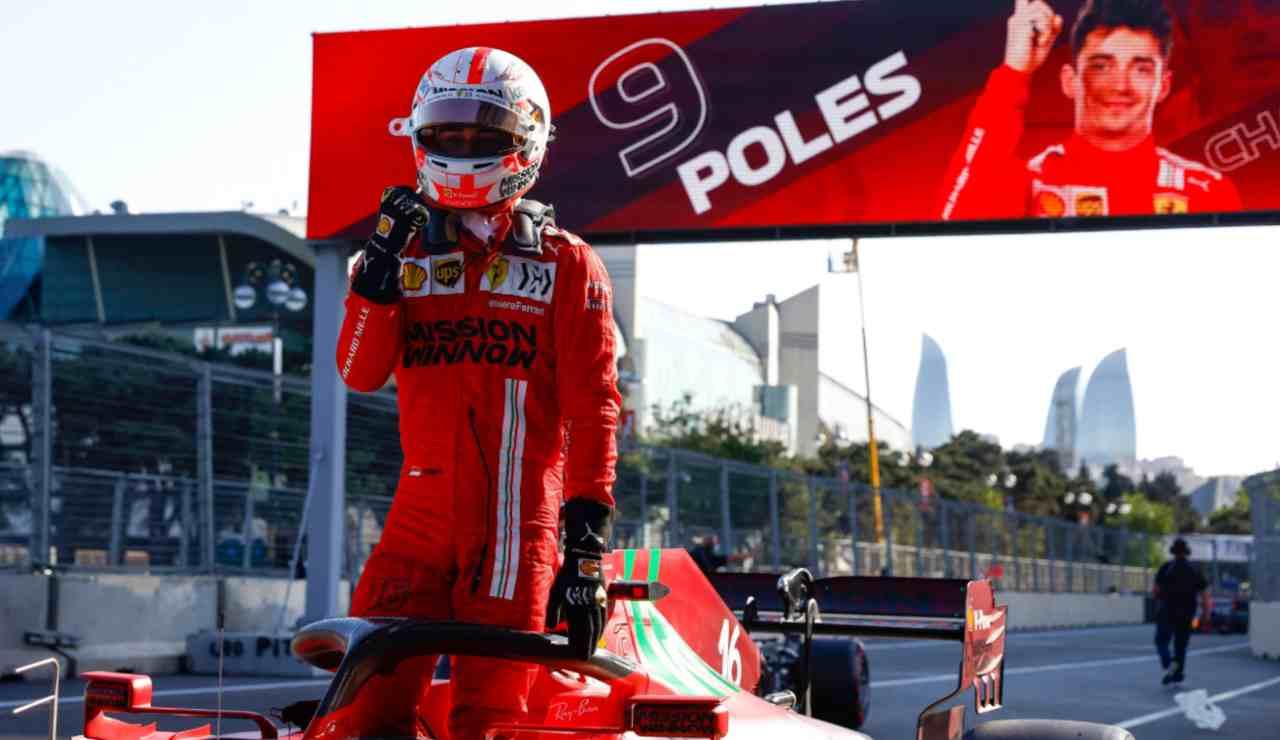 GP Azerbaijan pole Leclerc